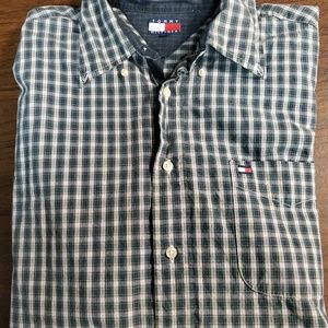Mens short sleeve button down Tommy Hilfiger.